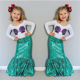 Wholesale Girls Big Childrens Trumpet Mermaid Skirts Summer Belle Mermaid Girl Skirts Fashion Newest Skirts for Girls Kids Clothes