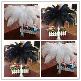 White&Black Ostrich Feather,100pcs lot ,ostrich plume wedding center pieces