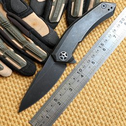 Wholesale Zero Tolerance ZT D2 steel blade titanium handle ceramic ball Bearing folding knife camp hunt outdoor survival pocket knives EDC tool