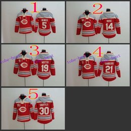 Wholesale Cincinnati Reds Johnny Bench Baseball Hoodie Hooded Sweatshirt Jackets New Style Outdoor Uniform size M XL