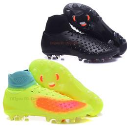 Wholesale New Cleats Athletic Soccer Shoes Magista Obra II FG Football Boots Volt Black Total orange Pink blast Mens Youth Sports Shoes EU46 UK11 US12
