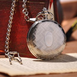 Wholesale Luxury Silver Full Shield Case Mechanical Pocket Watch Cool Fashion Hot Sale Round Stainless Steel Watch Hand Wind Watch