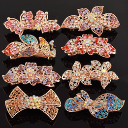 Wholesale Wedding Hair Accessories Korean Style Hair Clips Hairpins Crystal Rhinestone Barrette Headband for Landy Girls Gift Ideas Bobby Pins