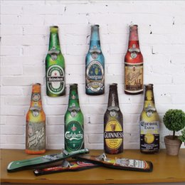 Wholesale Hang on Wall Retro Beer Bottle Shaped Kitchen Pub Beer Bottle Opener Classic Style