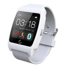 Wholesale UX Smart Watches Capacitive Bluetooth Wristwatch Remote Camera Heart Rate Monitoring U watch for iPhone Android Smartphones