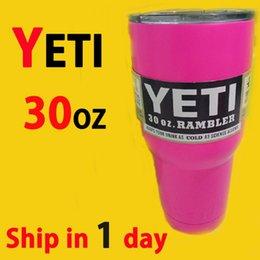 Wholesale 2016 Hot sale Yeti Cups yeti pink yeti Coolers oz yeti Rambler Tumbler Travel Vehicle yeti Beer Mug Double Wall Bilayer Vacuum Insulated