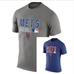 Wholesale Men s New York Mets Authentic Collection Legend Logo Performance T Shirt Red Baseball Mix Order