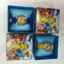 Wholesale 20pcs fashion Pikachu Go Quartz Wrist Watch Baby For Girls Boys Watches kids