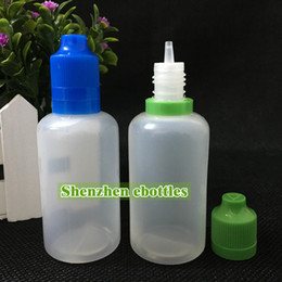 Free shipping hot sale wholesale Plastic bottle E-cigarette childproof tamper cap and long thin dropper tip 50ML PE Plastic Dropper Bottles