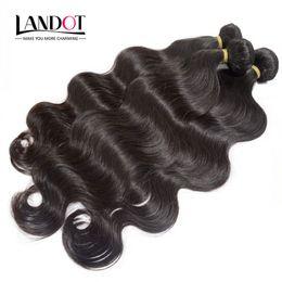 Best Grade 10A Brazilian Hair Body Wave Unprocessed Raw Peruvian Indian Malaysian Cambodian Human Hair Weave Bundles Can Bleach 2 Years Life