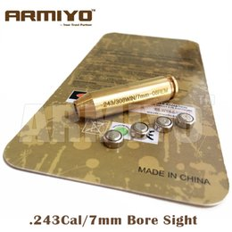 Wholesale Armiyo Brass Boresighter CAL WIN mm REM WIN Cartridge Rifle Bore Sight Hunting Gun Optics Red Laser
