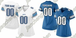 Wholesale 2016 Custom Women s Detroit Lion Game Football Home Away Personalized Jersey Authentic High Quality Stitched Wear