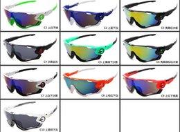 Wholesale New Fashion Sports And Biking Goggles Sunglasses Leg Adjustable Colors Men s Jawbreakers Discoloration Sunglasses For Men And Women