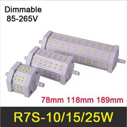 HOT R7S LED Lamp 10W 78mm 15W 118mm 25W 189mm SMD5730 85-265V Lampada LED R7S Light Bulb Dimmable Replace Halogen Lights