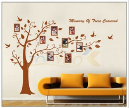 Wholesale hot AB x250cm XXL brown fashion classic memory tree wall stickers home decor wall decal JM7194AB