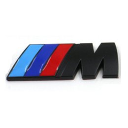 Wholesale Metal Car Stickers M Power M Tech Logo Emblem Badge Decals for BMW Silver Black Car Badge Emblem Decals for Car Sticker002