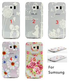 Rubber Patterned Silicone Clear Soft TPU Cute Back Cover Case For Samsung Galaxy S5 i9600 S6