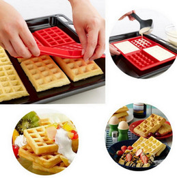 Wholesale 1 X Safety Cavity Waffles Cake Chocolate Pan Silicone Mold Baking Mould Cooking Tools Kitchen Accessories Supplies