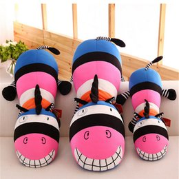 Wholesale 2016 New Pop Animal Zebra Plush Toy Soft Big Colorful Zebra Pillow Best Gift and Decoration