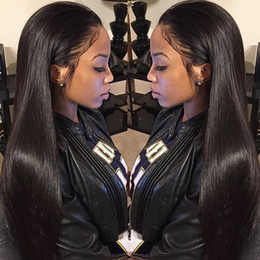 Silky straight long human hair wigs virgin brazilian full lace wigs human hair lace front wigs for black women