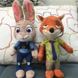 New Zootopia Nick Wilde Embroidery Judy Hopps Plush Toy Stuffed Animals Cartoon Dolls Animation Toys Children Gift 23CM