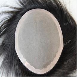 Wholesale men s toupee human hair replacement Indian virgin hair toupee for men x8 inch Color no shedding no tangle