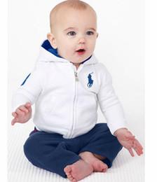 Wholesale Baby Boys Autumn Clothing Sets Set Polo Hoodies Sweatshirts Pants Kids Sport suits Children Cotton Tracksuits Boy Casual Clothes Outfit