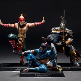 Wholesale 2016 New League Of Legends LOL Master Yi the Wuju Bladesman Lee Sin the Blind Monk Yasuo the Unforgiven cm PVC Action Figure