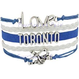 Custom-Infinity Love National Hockey League Toronto Maple Leafs Bracelet Ice Hockey Player Fans Adjustable Bracelet Bangles-Drop Shipping
