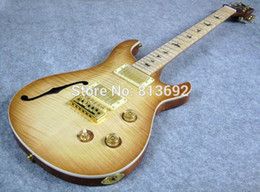 Electric Guitar, NaturalBurst,F hole, High Quality Guitar, PS08