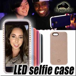 Wholesale Iphone7 Selfie Case LED Light Up Your Face Luminous For iphone s plus s SE Galaxy S6 S7 edge