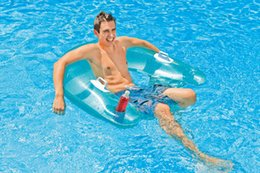 Wholesale Floating bed loungers water floating bed sitting floating row adult swim ring floating chair adult floating ring