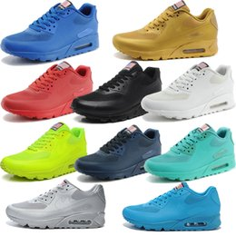 Wholesale Air Mesh Colors Print Max USA Flag Sneakers hyperfuse for Cheap Men Women White Red Black Pink Golden Navy Blue Sports Running Shoes