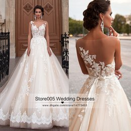 Wholesale Vintage Gothic Lace Wedding Gowns Arab Ball Gown Bridal Dresses Country Style Tulle Appliques Robe de mariage Sash Z531
