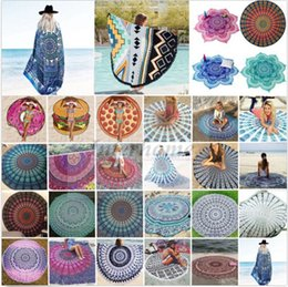 Wholesale Round Bikini Cover Ups Beach Beach Towel Bikini Cover Ups Bohemian Hippie Beachwear Chiffon Beach Sarongs Shawl Bath Towel Yoga Mat B344