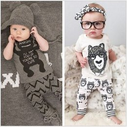 Brand New Baby Clothes Sets 2016 Newborn T-Shirts Trouser Suit Boys Outfits Bebe Clothing Girls Pajamas Infant Jumpsuits Cotton