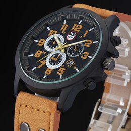 Mens Leather Watches Three Six Pin Business Luxury Brand Calender Casual Watch for Man Analog Quartz Sport Watch