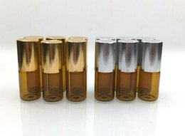 Factory Price 3ml Essential Oils Glass Roller Bottles, Refillable Roll-on Bottles with Stainless Steel Roller Balls
