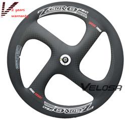 High grade T800 Full carbon 4-spoke carbon wheel,Zero-4 clincher tubular wheelset. for Track or Road bike wheel