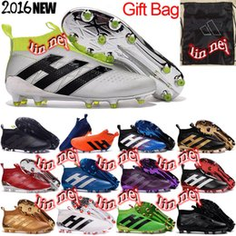 Wholesale original men ace purecontrol football boots x purechaos soccer shoes messi pureagility soccer cleats mercurial cr7 superfly fg ag