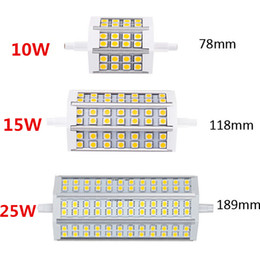 Canada R7S LED 10W 12W 15W 20W 5050 ampoule de maïs 78mm 118mm 189mm LED R7S ampoule lampe Dimmable 5050 Corn lampe Remplacer halogène Floodlight 85V-265V cheap r7s led 118mm dimmable Offre