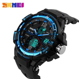 Wholesale Rushed Top Fashion Skmei Sport Men Water Resistant Black It Is Waterproof Outdoor Leisure Sports Watch Big Dial Fashion Table