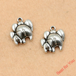 50pcs Antique Silver Plated Elephant Charms Pendants Fashion Jewelry Diy Jewelry Making Handmade 18x16mm jewelry making