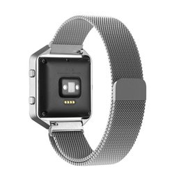 Wholesale Fitbit Blaze Accessory Band Large Milanese loop stainless steel Bracelet Strap With Magnet lock for Fitbit Blaze Smart Fitness Watch