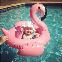 Wholesale Flamingo Inflatable Swimming Ring Giant Swan Float Swan Flamingo Floats Ins Floating Rings Swiming Laps Raft Kids Swimming Pool Toys B374