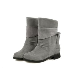Wholesale 2016 New pu leather Fashion casual Warm boots motorcycle women ankle boots for women Lacu up plus size cheap online stores HSH HQ353