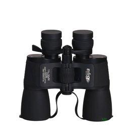 BIJIA 30X Waterproof HD Binoculars 10-30x50 Portable Non-infrared Low Light Night Vision Telescope For Outdoor Activities Camping Hiking