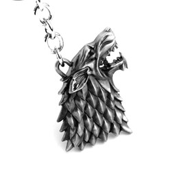 Wholesale Hot Game of Thrones Keychain House Stark Key Chain Song Of Ice And Fire Key Rings Holder Souvenir For Gift Chaveiro Men Jewelry