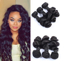 Peruvian Hair Weave Bundles Loose Wave Human Hair Extensions 100g pc Shedding Free DHL Free Shipping LaurieJ Hair