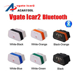 Wholesale Code Vgate Bluetooth - 2015 New Arrival Vgate iCar2 Bluetooth OBD Scanner iCar 2 elm327 Bluetooth Diagnostic Interface Vgate iCar 2 Bluetooth free ship